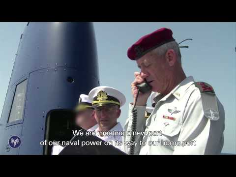 Memorial Ceremony Aboard IDF's New Submarine Making Its Way to Israel
