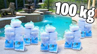 O que acontece se você jogar 100 Kg de Gelo Seco na Piscina??