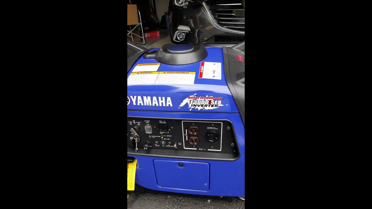 Yamaha ef3000iseb 1st startup 18+ language content!