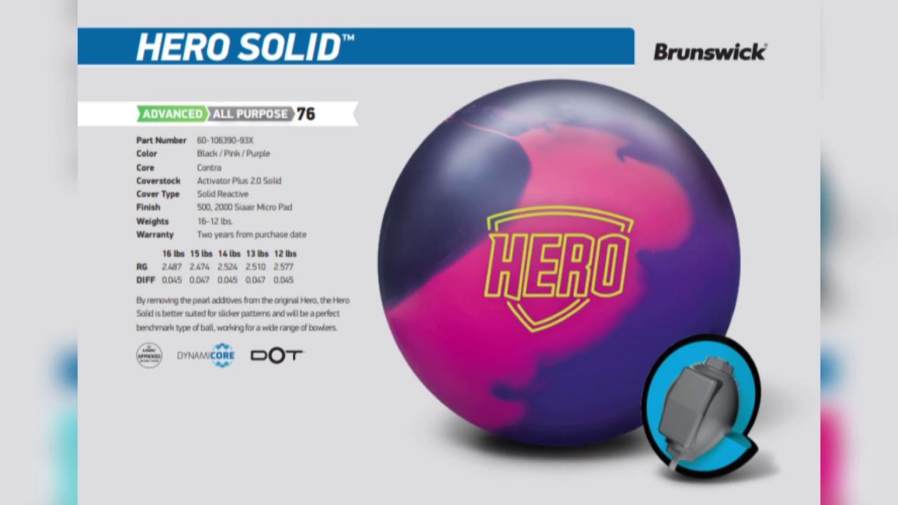 HERO SOLID(Brunswick) 브런스윅 히어로 솔리드 볼모션/투핸드(Two hands)