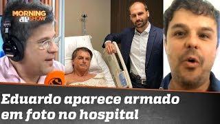 Eduardo Bolsonaro Aparece Armado Em Foto Com O Pai No Hospital Polêmica Vazia