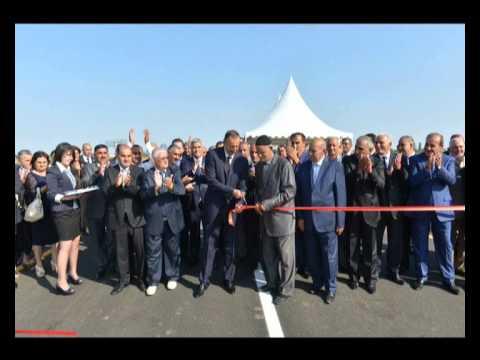 Ilham Aliyev inaugurates new bridge built over Kur River in Sabirabad