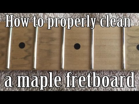 How to Clean a Maple Fretboard Correctly - DIY guitar maintenance maple neck