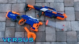 [VS] Nerf Rapidstrike vs. Nerf Hyperfire | Which is Better!?