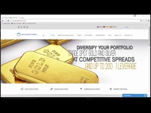 Cadastro de Conta Real - Core Liquidity Markets