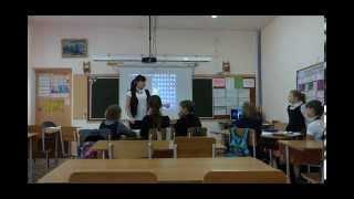 Фрагмент урока литературы в 5 классе  Лескова А А  x264