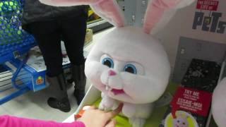 Интерактивная Кошечка мурчит как настоящая, кролик Снежок, Snowball Rabbit , Hasbro Interactive Cat