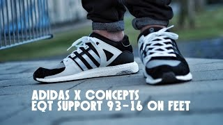 adidas x concepts eqt support 93 16 on feet detail shots