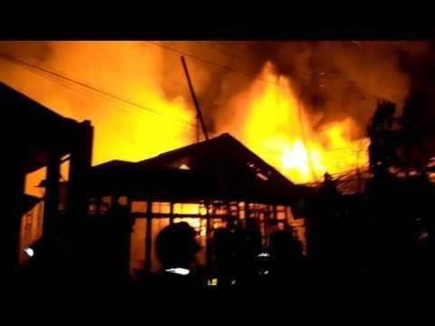 Kebakaran di Jl. Siti Aisyah, Teluk Lerong Sam