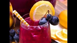 Refreshing Black Grape Lemonade
