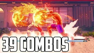 A V-Skill 2 Combo For Every Character In SFV 39 Combos