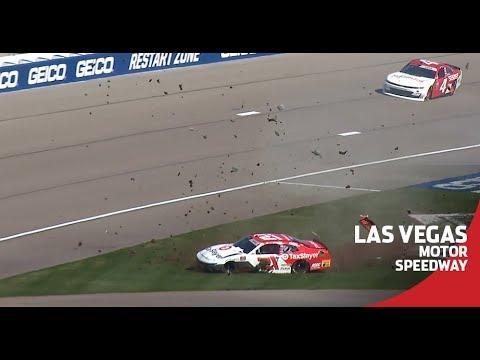 Myatt Snider Crashes In Xfinity Series Practice At Las Vegas
