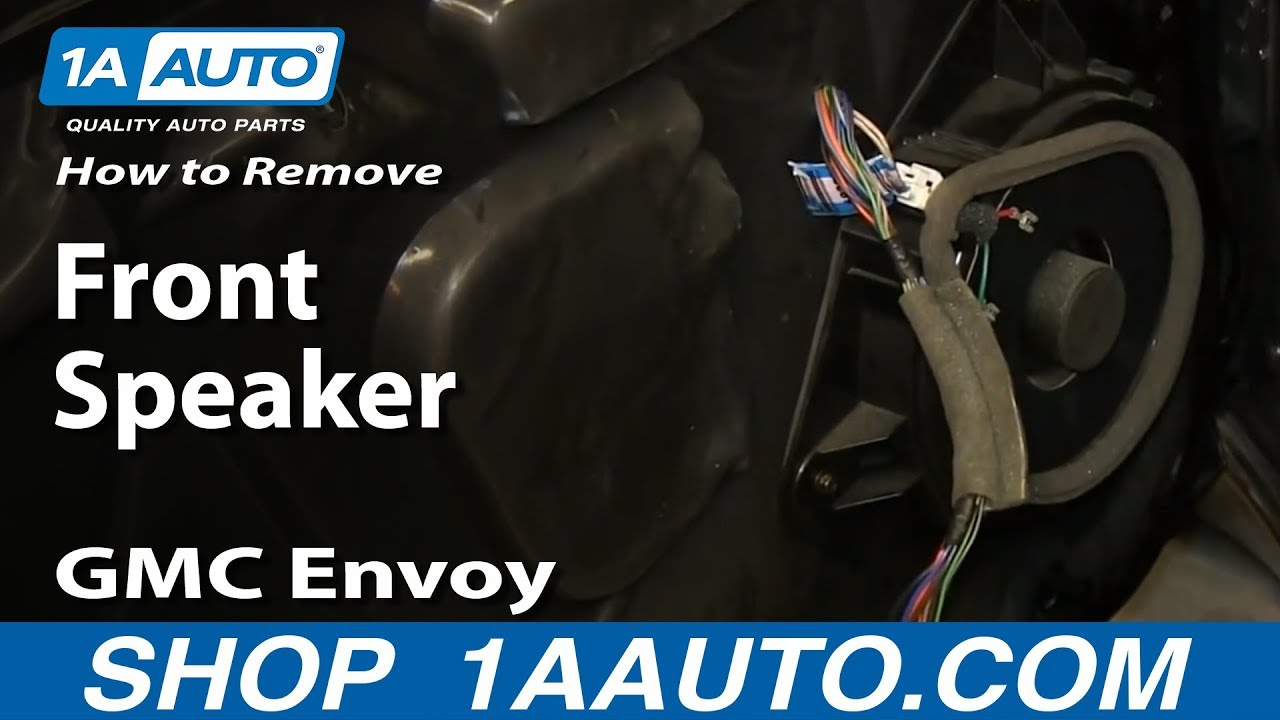 hight resolution of how to install front speaker 02 06 gmc envoy