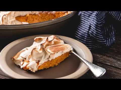 Baked Sweet Potato Casserole with Marshmallow Fluff