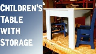 Children's Table and Chairs with Storage! - ShieldsCraft
