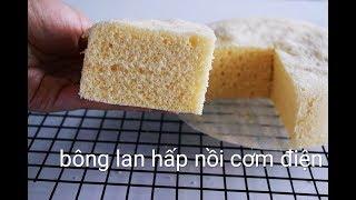 Cách làm bánh bông lan hấp từ nồi cơm điện