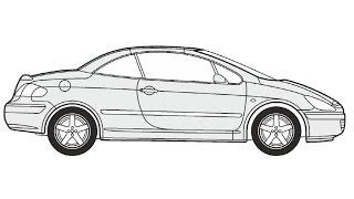 How to Draw a Peugeot 307 CC / Как нарисовать Peugeot 307 CC