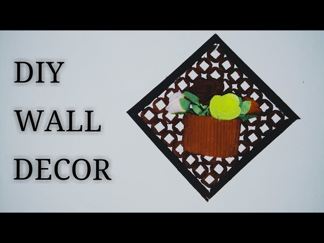 DIY #6 TUTORIAL Wall Decor| Hiasan dinding dari koran bekas | ide kreatif koran- by Mariatul Safitri