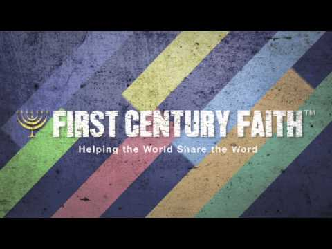 First Century Faith™ Signature Closing - Flat Angled Pastel Textured Stripes Video Credit Reference