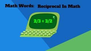 Reciprocal Math Definition