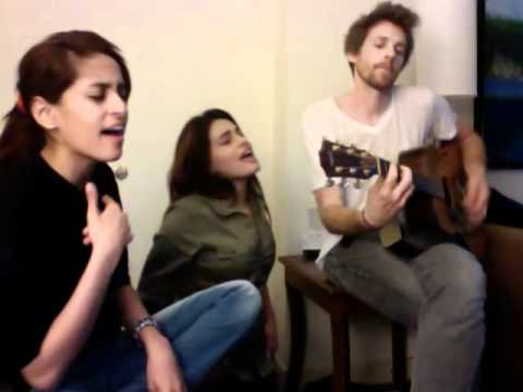 Shweta and Shraddha Pandit Jamming with Joel Shearer (Guitar)