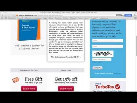 TurboTax Home & Business 2015 - Using A Coupon Code At SoftwareVoucher.com