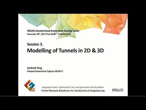 Modelling of Tunnels in 2D & 3D
