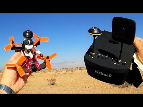Vifly R130 FPV Racer Drone With Virhuck LS-800D FPV Goggles Review
