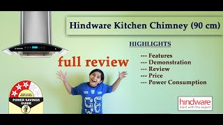 Hindware Chimney | Hindware Nevio Plus 90 Auto Clean Wall Mounted Chimney working Demo in Hindi