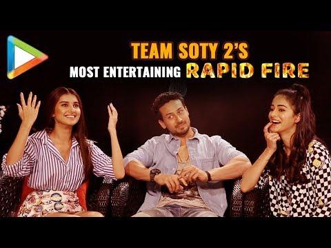 Tiger, Ananya & Tara's CRAZIEST Rapid Fire Ever | SOTY 2 | Salman | Hrithik | Katrina | Kartik
