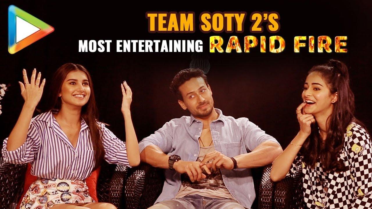 Download Tiger, Ananya & Tara's CRAZIEST Rapid Fire Ever   SOTY 2   Salman   Hrithik   Katrina   Kartik