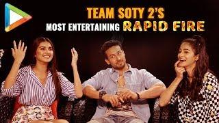 Tiger Ananya & Tara's CRAZIEST Rapid Fire Ever SOTY 2 Salman Hrithik Katrina Kartik
