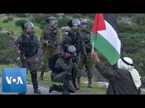 Palestinians Clash With Israel Security Forces During Peace Plan Protest In Occupied West Bank