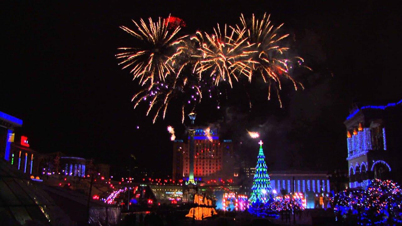 Фейерверк Киев. Открытие новогодней елки 2013. Фейерверк ...
