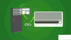 AIR POLLUTION - OZONE DEPLETION BY CFC GASES AND IT'S EFFECTS ON THE ENVIRONMENT