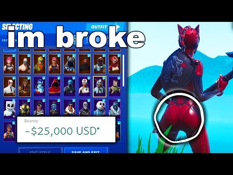 Buying EVERYTHING I Look At With EYE TRACKER - Fortnite