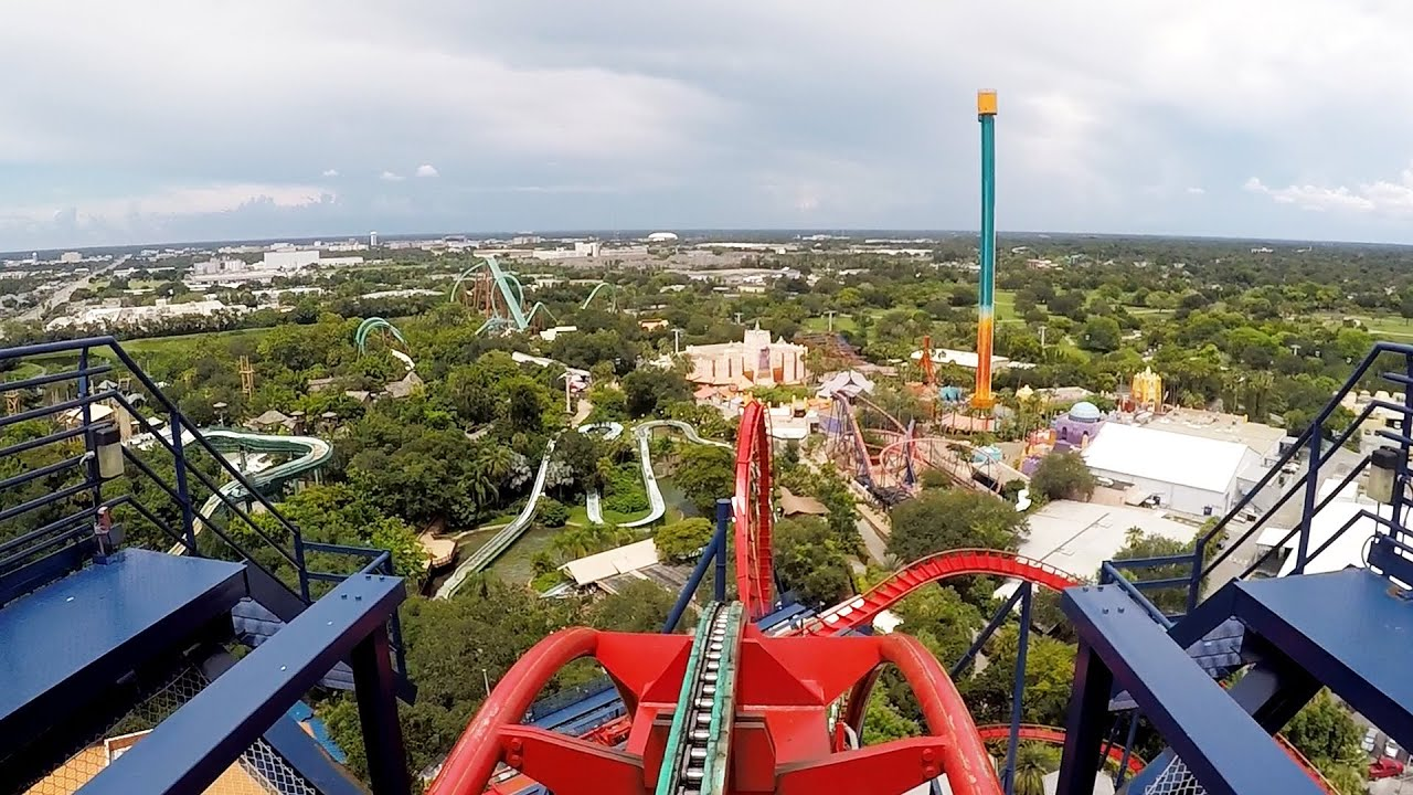 Sheikra front row pov ride at busch gardens tampa bay on roller coaster day 2016 dive coaster for Best day go busch gardens tampa