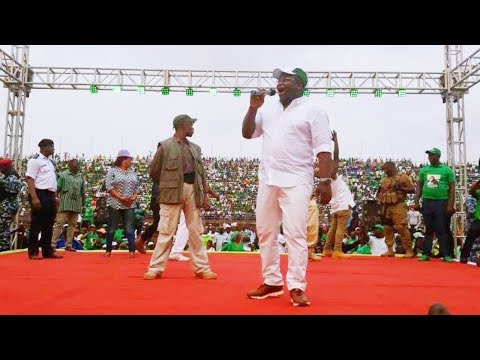 His Excellency Rtd Brig Julius Maada Bio Live At The National Stadium