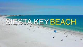 Siesta Key Beach - #1 Beach in the USA - Aerial Drone Video - 4K 2020