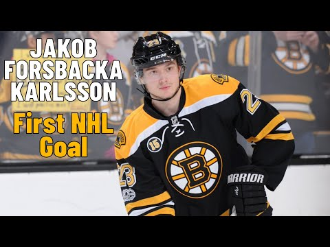 Jakob Forsbacka Karlsson #23 (Boston Bruins) first NHL goal 17/11/2018