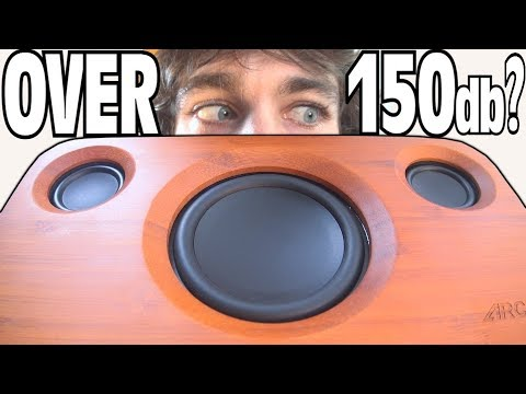 OVER 150db From Bluetooth Speaker!? Testing LOUDEST Volume on Ported 3