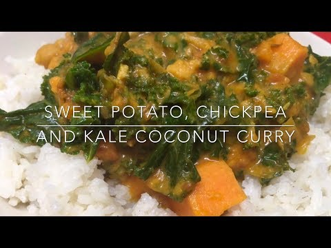 Vegan Cooking #13 – Sweet Potato, Chickpea and Kale Coconut Curry