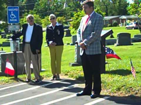 Civil War Trail Sign Dedication East Hill Cemetery Bristol, VA 5 25 13