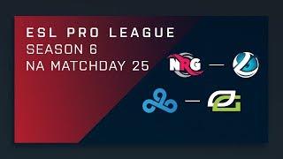 CS:GO: NRG vs. Luminosity   Cloud9 vs. OpTic - Day 25 - ESL Pro League Season 6 - NA Main