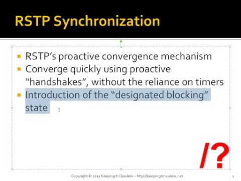 Rapid Spanning Tree Synchronization Keeping It Classless Labs