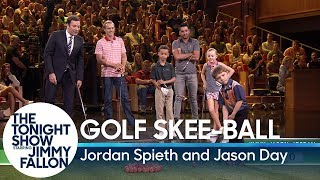 Download Kid Golfers Play Golf Skee-Ball Against PGA Tour Stars Jordan Spieth and Jason Day Mp3 and Videos