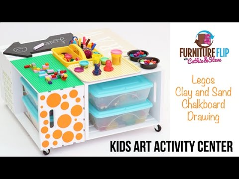 Super Easy Diy Kids Art Activity Center Youtube