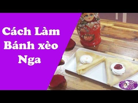 """Món Bánh cho  những người yêu phim """"Tình Khúc Bạch Dương"""": Bánh Xèo Nga (Bánh Blin, bánh Crepe)"""