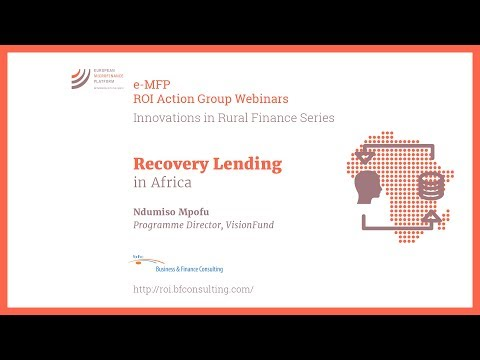 Recovery Lending in Africa (by Ndumiso Mpofu)