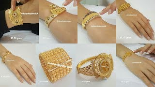 Latest Gold Bracelet Designs with Weight   Latest Gold Panjangla Designs